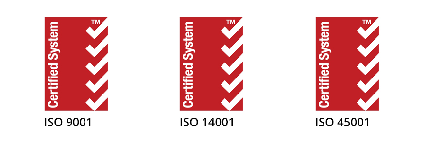 ISO certification logos